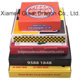 White Exterior and Natural/Kraft Interior Pizza Box (PB160618)