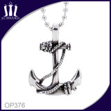 Anchor Pendant with Ball Chain Necklace