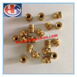 Brass Turning Spare Part, Metal Processing Copper Nut (HS-TP-0010)