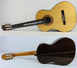 Wholesale Handmade All Solid Classical Guitar with Raised Fingerboard Design