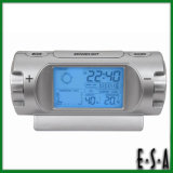 2015 Multifunction Weather Station Clock, Weather Forecast Table Clock with LED Light, Best Quality Weather Forecast Clock G20c108