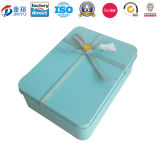Custom Rectangle Shaped Metal Tin Can for Wedding Chocolate Packaging