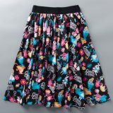 Custom Design Women Elastic Waist Girls Swing Floral Skirt