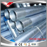 Galvanized Conduit ERW Steel Pipe Threaded with Coupling and Plastic Caps