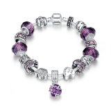 Popular Design Europe Zircon and Glass Material Female Bracelet