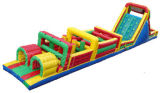 Outdoor Giant Inflatable Obstacle Course for Adult Kid Play