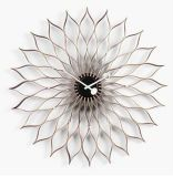 Birch Walnut Ply Wood High-Grade Quartz Sunflower Wall Clock