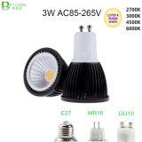 3W Dimmable COB GU10 LED Spot Lamp