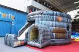Outdoor Inflatable Jumper Bouncer Obstacle Course with Slide (CHOB464-1)