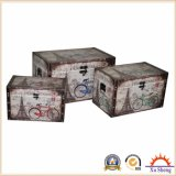 3-PC European Bicycle Collection Storage PU Ottoman Trunk