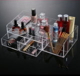 Acrylic Makeup Storage Cosmetic Organizer Case Jewelry Box Drawers Holder