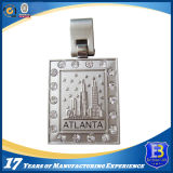 Customized Atlanta Metal Keyring with Clear Stones (Ele-K072)