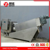 Sludge Dewatering Filter Press, Stainless Steel Screw Filter Press for Sewage Treatment