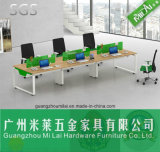 Favorable Price Double Side Office Workstation Table Furniture with Metal Leg