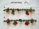 Snowman and Stocking Garland Decoration Gift-2asst.