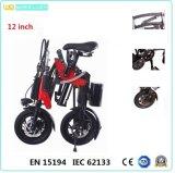 12 Inch Mini Folding Electric Bike with Brushless Motor Assist Black