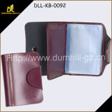 Organizer Leather Business Card Sleeve Holder with Transparent PVC Pockets