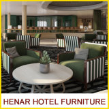 European Style Luxury Wood Frame Fabric Armchairs for Hotel