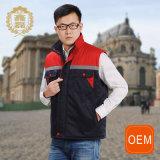 OEM Man Safety Vest in Winter, Multi Pocket Thick Cotton Vest