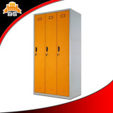 3 Door Customized Colorful Knock Down Laminate Metal Compact Locker