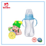 Wide Neck PP Milk Bottles with Automatic Straw
