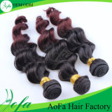 Tow Colors Peruvian Remy Human Hair Extension for Black Women