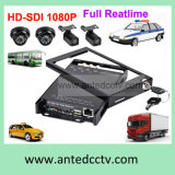 HD 1080P SD Card Mobile Automotive DVR with 4 Cameras and GPS Tracking