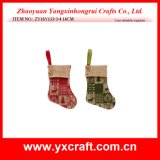 Christmas Decoration (ZY16Y133-3-4 14CM) Christmas Winter Sock Crafts Christmas Decorations