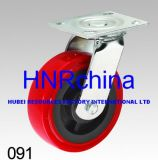 Red PU Tread Heavy Duty Industrial Swivel Caster