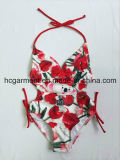 Lovely Flowers Print One Piece Swimwear for Baby Girl/Baby, Kids Swimsuit