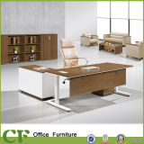 Powder Coating Leg Modern Office Boss Table with Mobile Cabinet