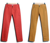 Men Cotton Twill Peach Finish Chino Pants and Trousers (HY1364)