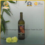 Decorated 750ml Glass Wine Bottle with Customer Design (544)