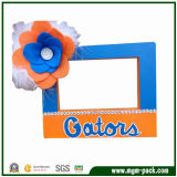 Special Colorful Rectangle Wooden Picture Frame with Flower Decoration