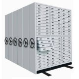 Movable Filing Cabinets Storage Shelf Bank Office Furniture Industrial High Density Steel Shelving
