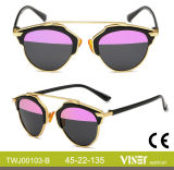 New Fashion Women Sunglasses Metal Sunglasses with High Quality (103-B)