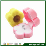 Hot Sale Cute Flower Shape Jewelry Ring Box