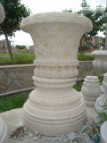 Granite Carving Flower Pot for Garden Decoration (CV023)