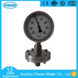 4′′ 100mm Thread Type Oil Filled Sanitary Diaphragm Pressure Gauge