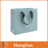 One Color Printed Paper Bags with Ribbon Handle