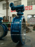 API/DIN/GOST Cast Steel Dn900 Py25 Eccentric Butterfly Valve