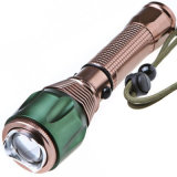 Jff19A Car Rechargeable Q5 5W Golden LED Torch
