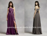 China Factory One Shoulder Bridalmaid Dresses with Satin Sash Style