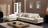Beige Modern Leather Corner Sofa