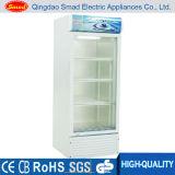 Glass Door Upright Refrigerator Showcase