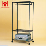Metal Retail Wire 3 Tiers Black Garment Rack