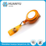 Yellow Business Printing Polyester Plastic Lanyard Accessory