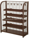 Store Fixture Brown Color Supermarket Shelf with Grid Rack