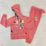 Winter Girl Children's Sports Suit Wear with Lace in Kids Clothes Sq-6664