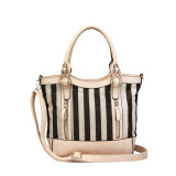 Black&White Canvas Versatile Shoulder Handbags for Women (MBNO039031)